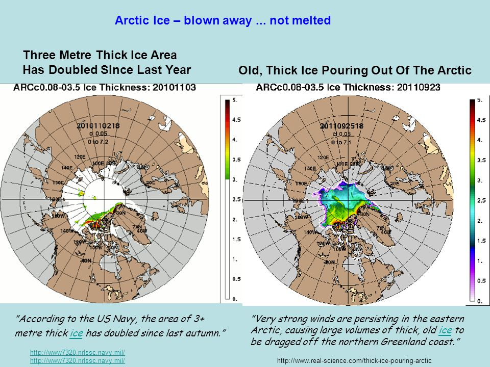 Arctic Ice – blown away ... not melted