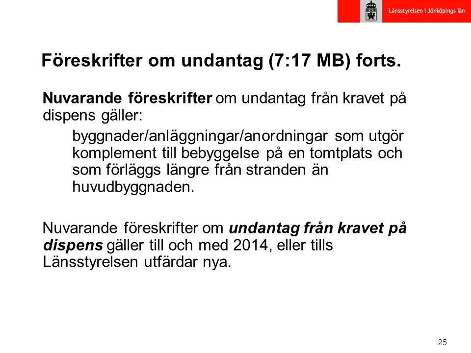 Föreskrifter om undantag (7:17 MB) forts.