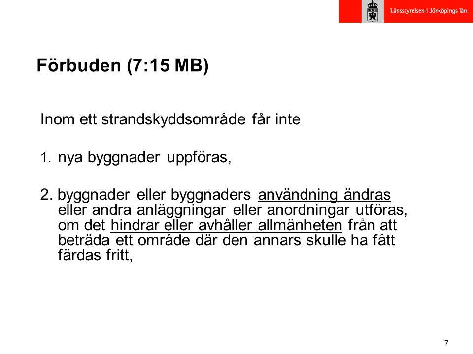 Förbuden (7:15 MB) Inom ett strandskyddsområde får inte
