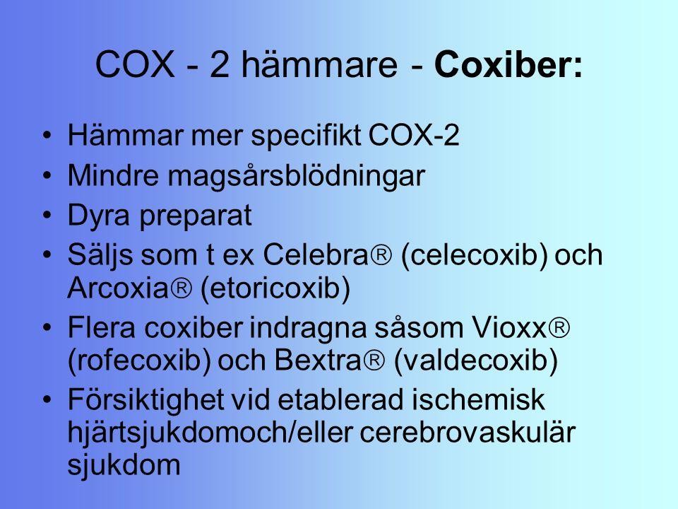 COX - 2 hämmare - Coxiber: