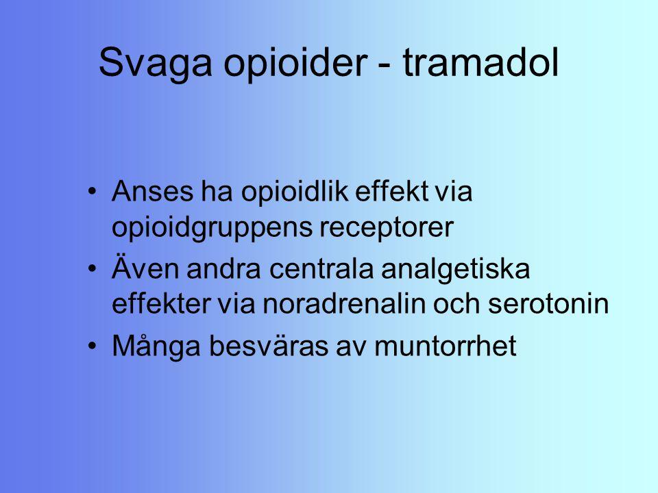 Svaga opioider - tramadol
