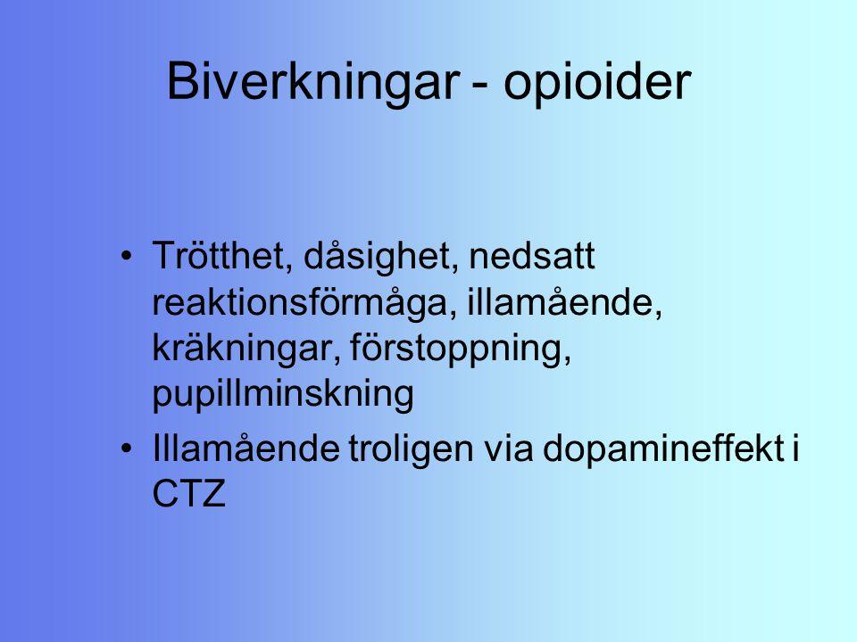 Biverkningar - opioider
