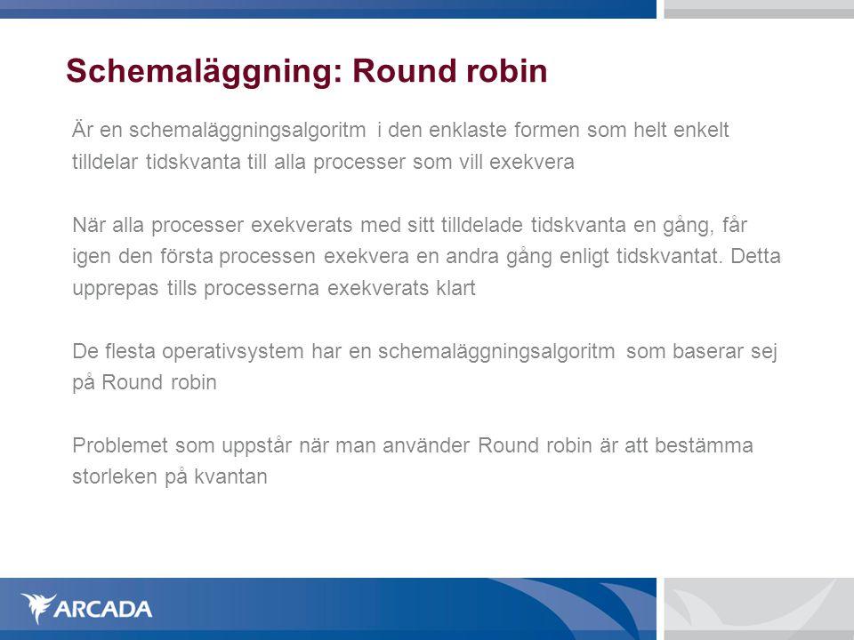 Schemaläggning: Round robin