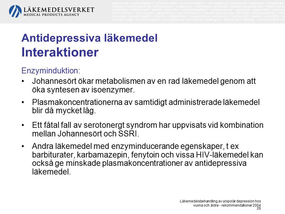 Antidepressiva läkemedel Interaktioner