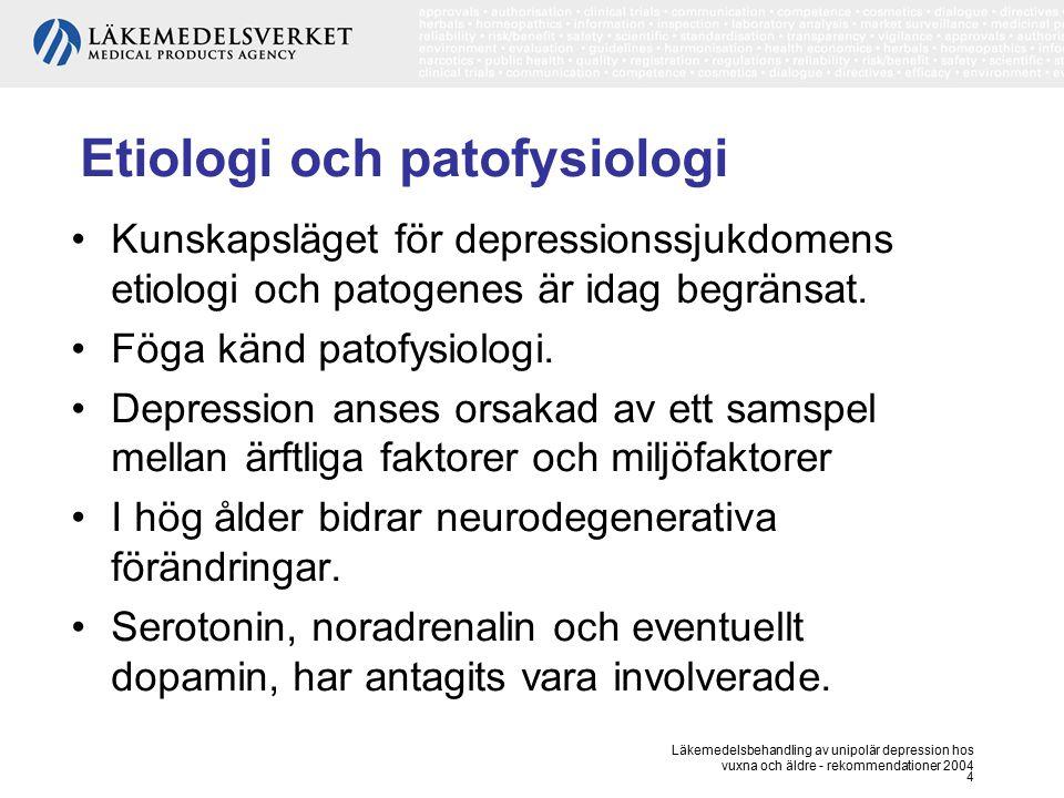 Etiologi och patofysiologi