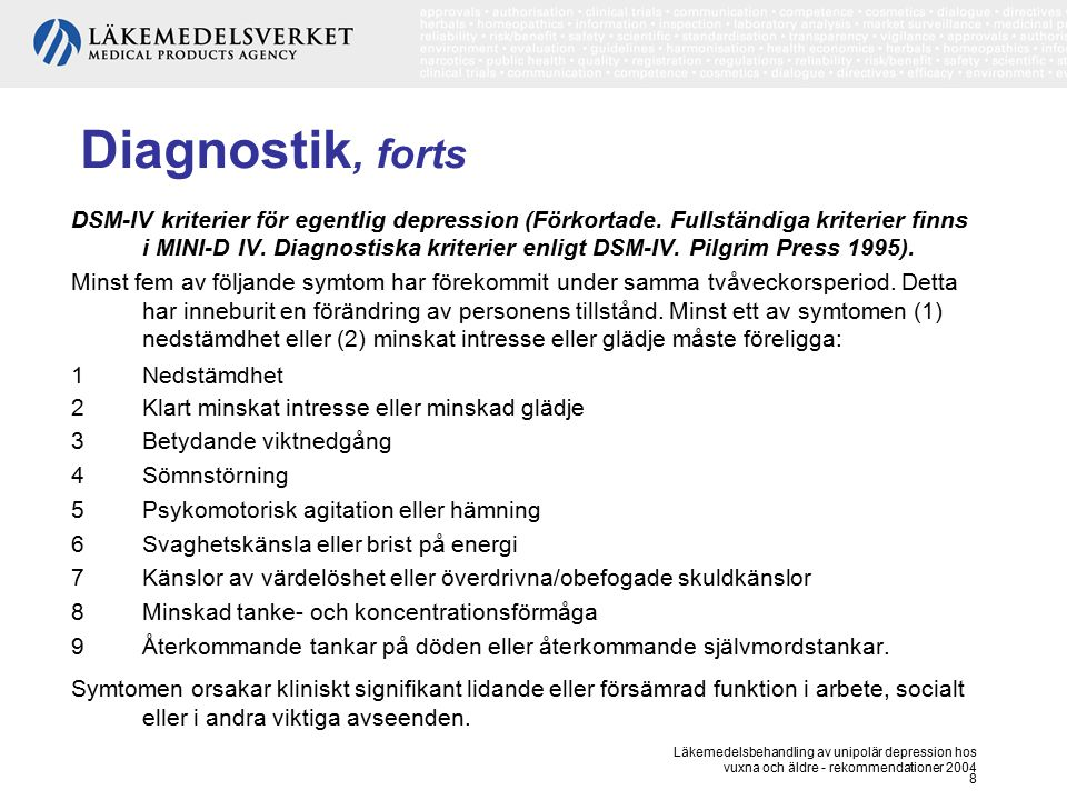 Diagnostik, forts