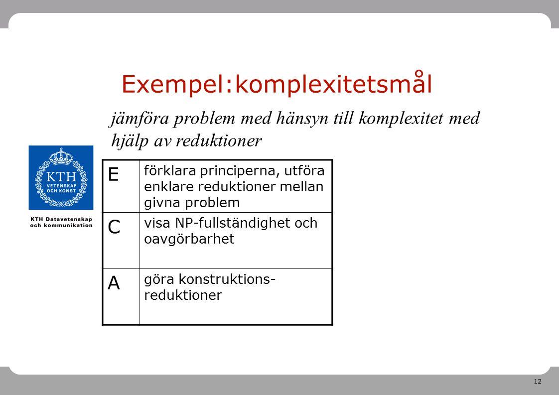 Exempel:komplexitetsmål