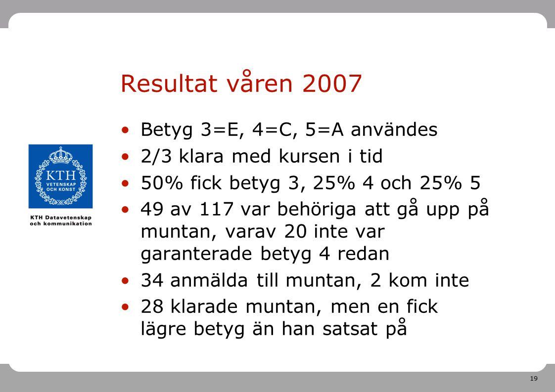 Högskoleverkets kvalitetskonferens i Umeå 2007