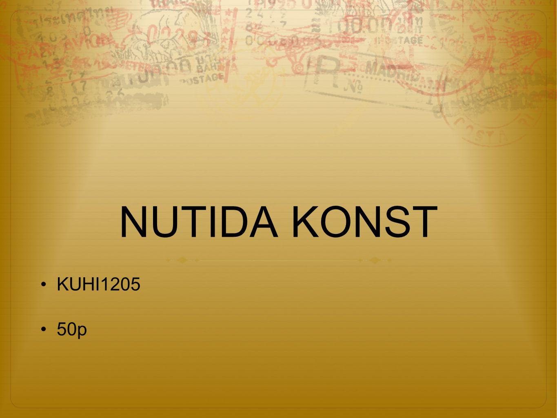 NUTIDA KONST KUHI1205 50p