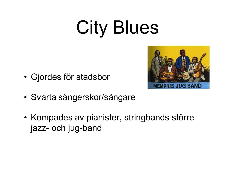 City Blues Gjordes för stadsbor Svarta sångerskor/sångare