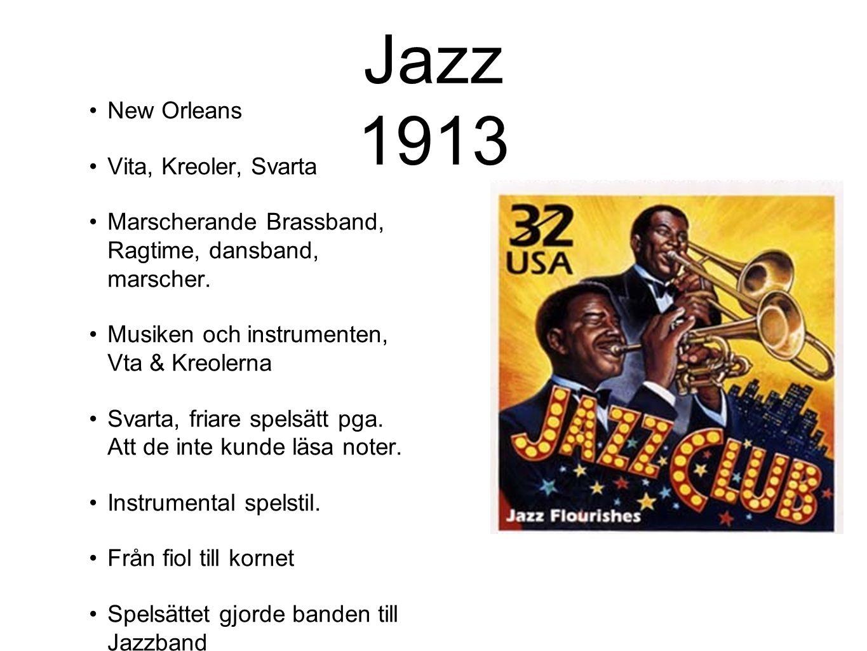 Jazz 1913 New Orleans Vita, Kreoler, Svarta