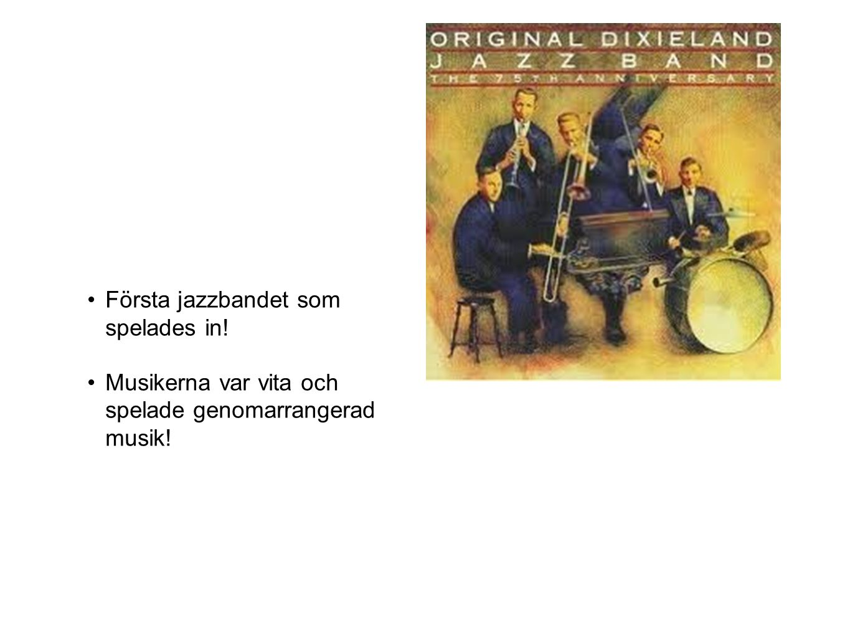 Första jazzbandet som spelades in!