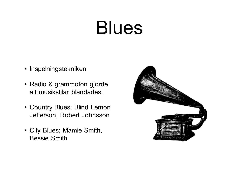 Blues Inspelningstekniken