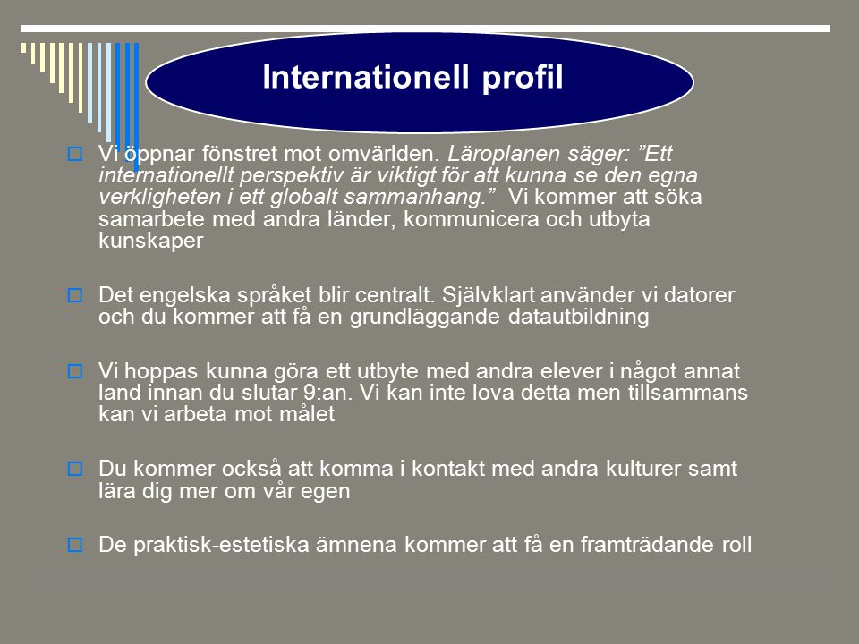 Internationell profil