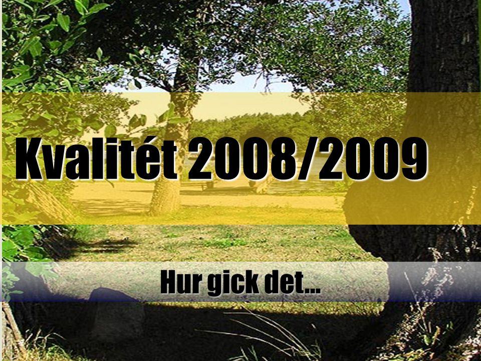 Kvalitét 2008/2009 Hur gick det…