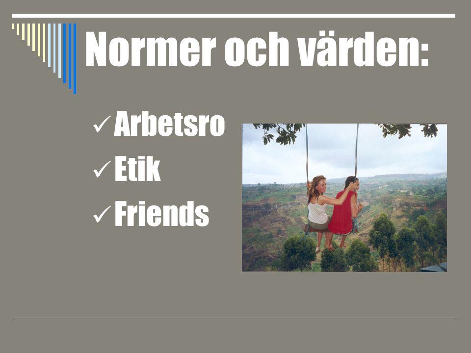 Normer och värden: Arbetsro Etik Friends