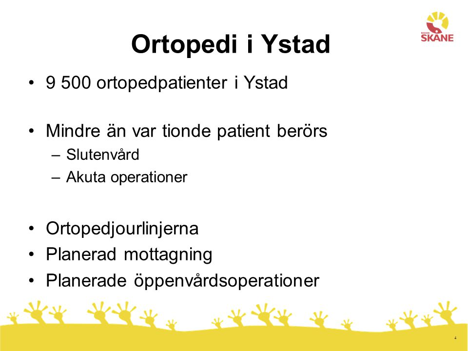 Ortopedi i Ystad 9 500 ortopedpatienter i Ystad