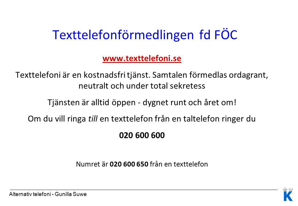 Texttelefonförmedlingen fd FÖC