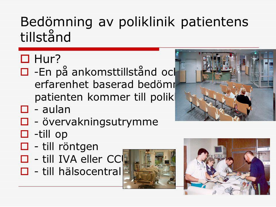 Bedömning av poliklinik patientens tillstånd