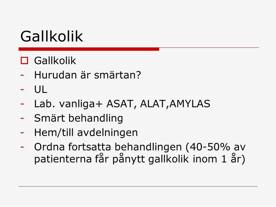 Gallkolik Gallkolik Hurudan är smärtan UL