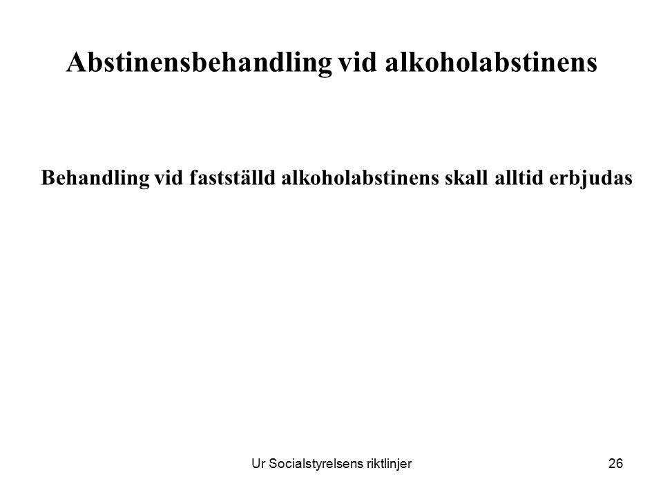 Abstinensbehandling vid alkoholabstinens