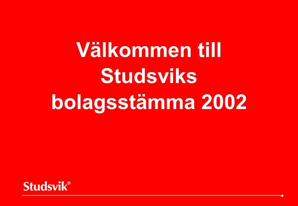 Välkommen till Studsviks bolagsstämma 2002