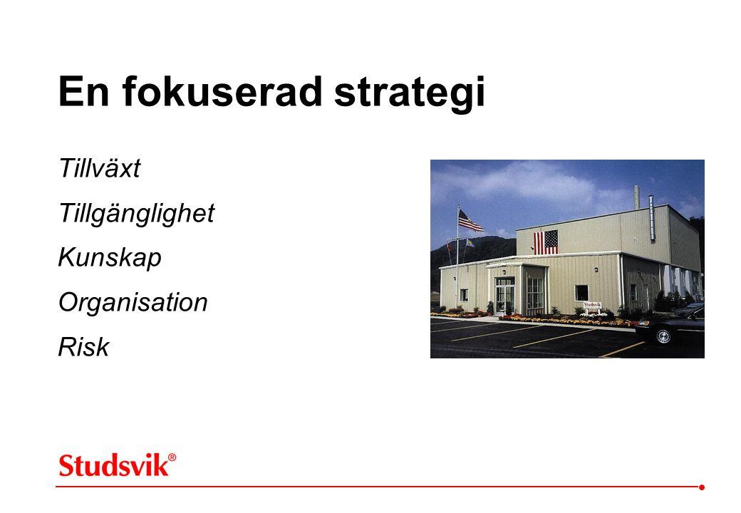 En fokuserad strategi Tillväxt Tillgänglighet Kunskap Organisation