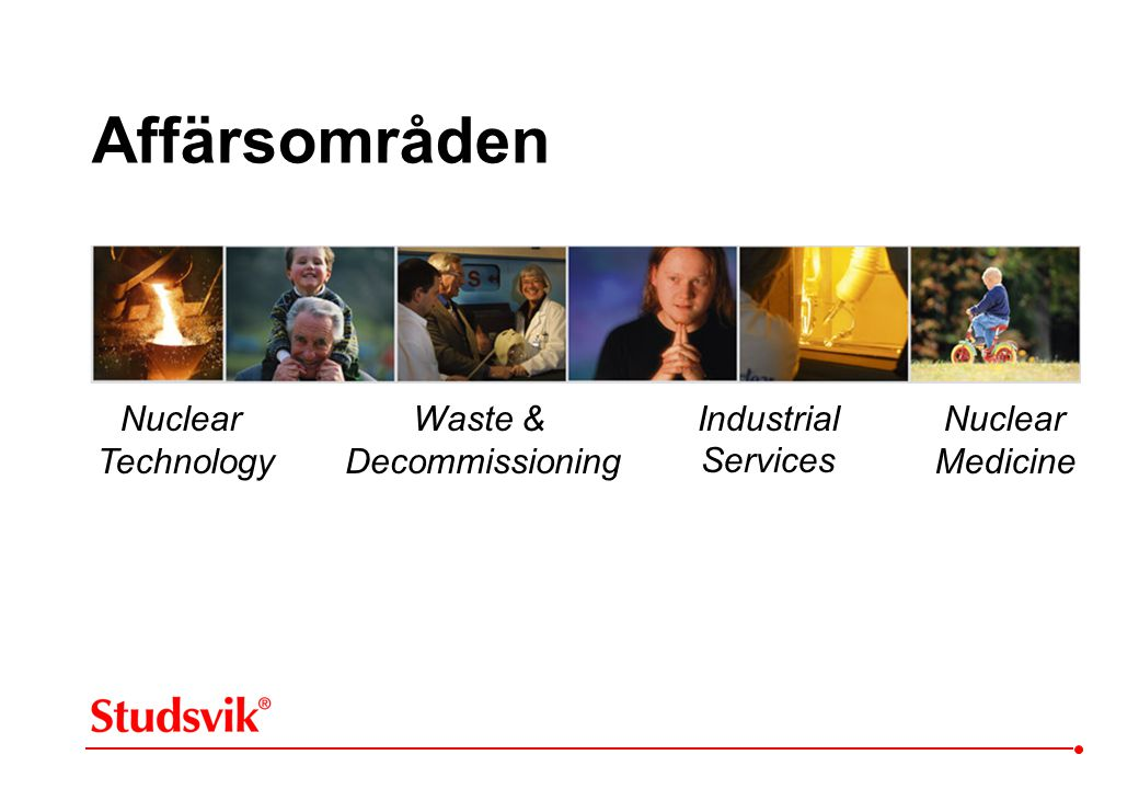 Affärsområden Nuclear Technology Waste & Decommissioning Industrial
