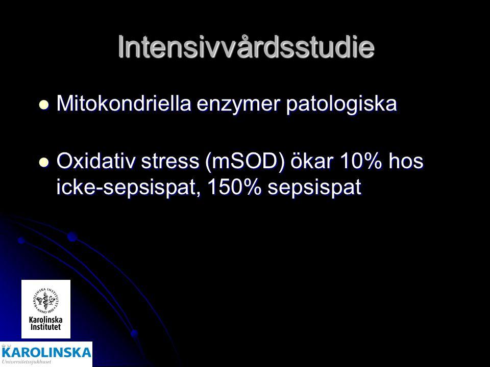 Intensivvårdsstudie Mitokondriella enzymer patologiska