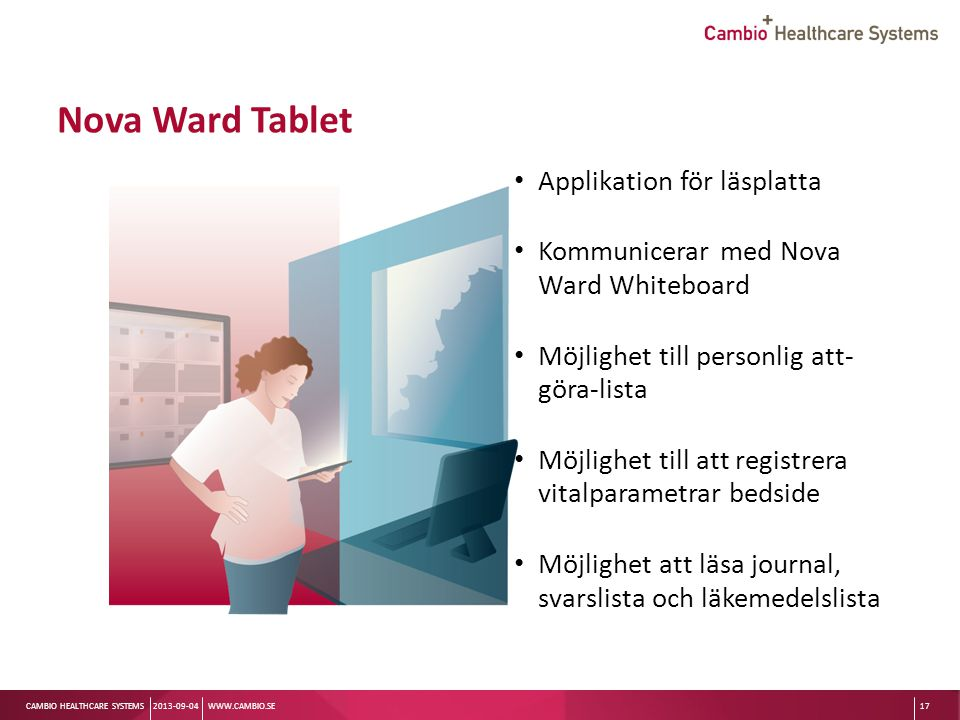 Nova Ward Tablet Applikation för läsplatta