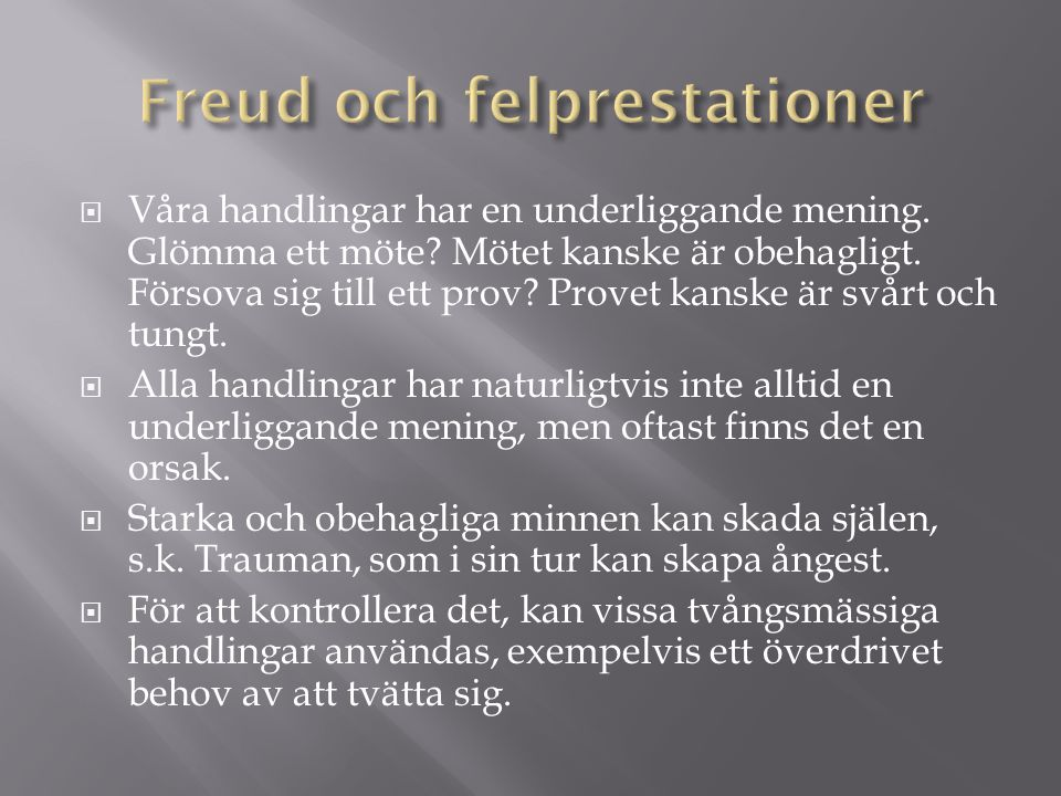 Freud och felprestationer
