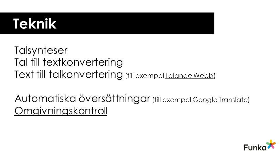 Teknik Talsynteser Tal till textkonvertering