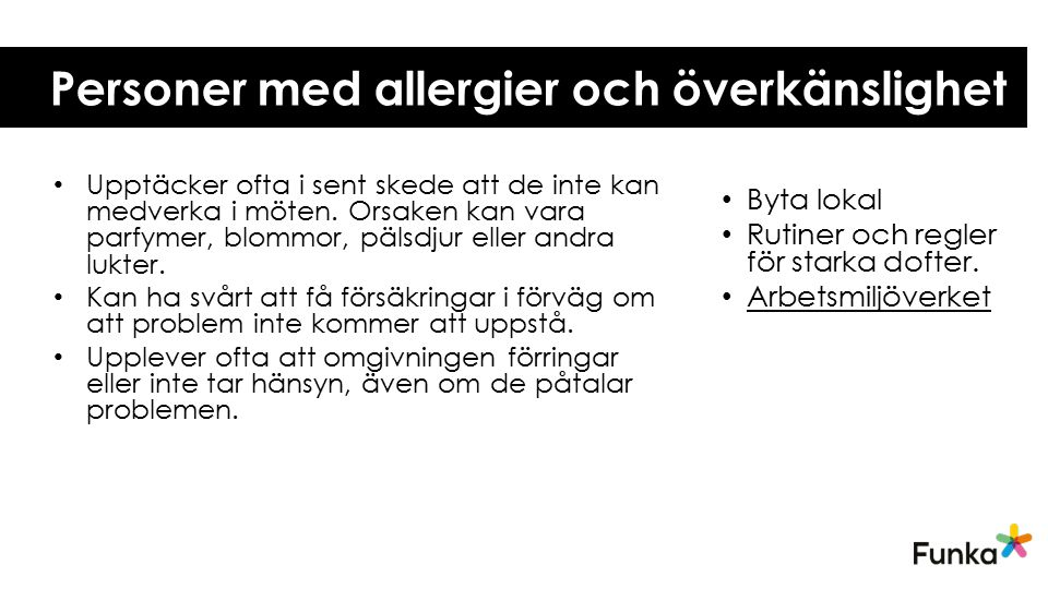 Personer med allergier och överkänslighet