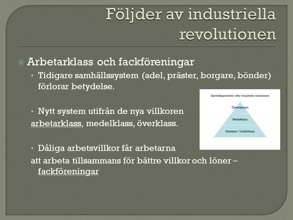 Följder av industriella revolutionen