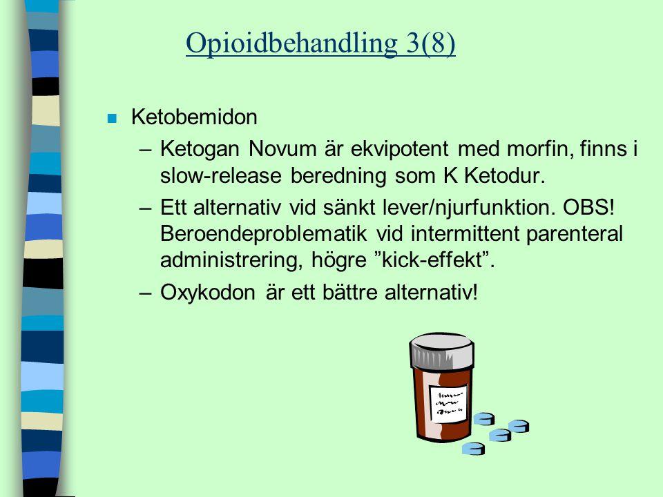 Opioidbehandling 3(8) Ketobemidon