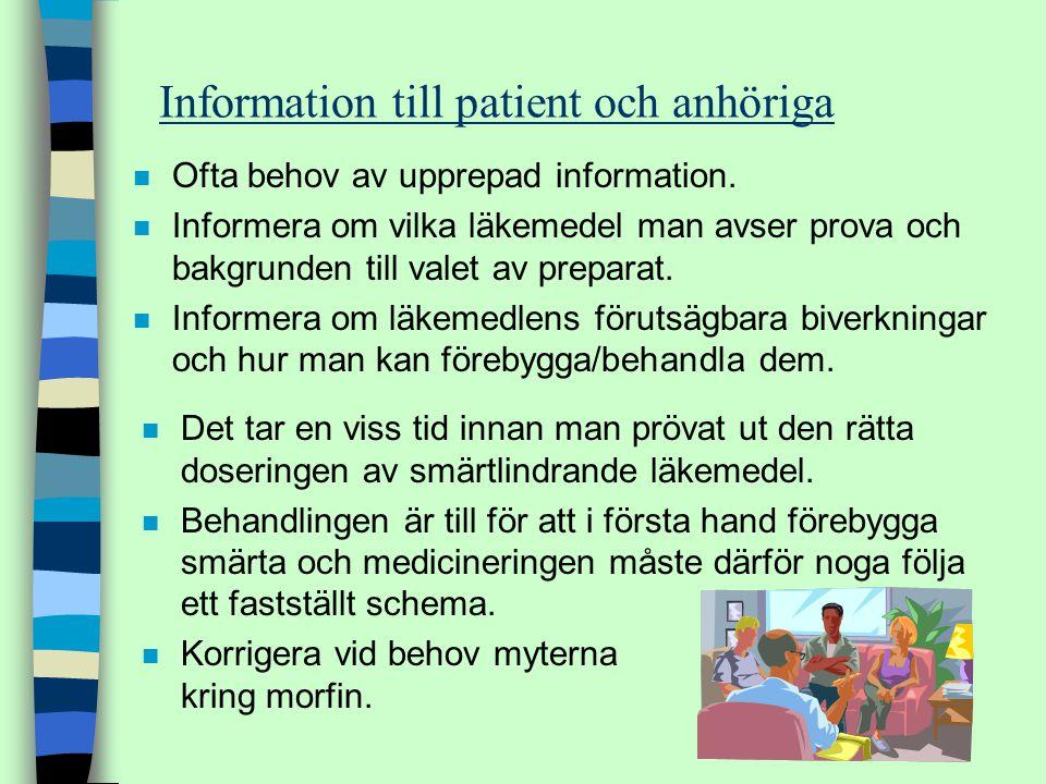 Information till patient och anhöriga