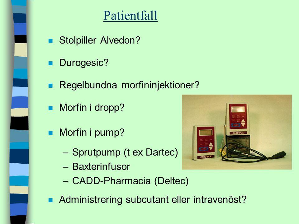 Patientfall Stolpiller Alvedon Durogesic