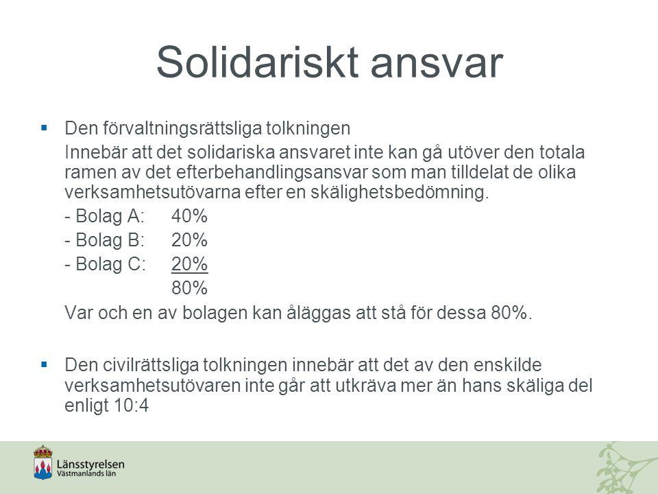 Solidariskt ansvar Den förvaltningsrättsliga tolkningen