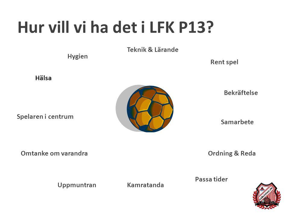 Hur vill vi ha det i LFK P13 Teknik & Lärande Hygien Rent spel Hälsa