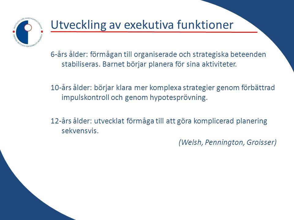 Utveckling av exekutiva funktioner