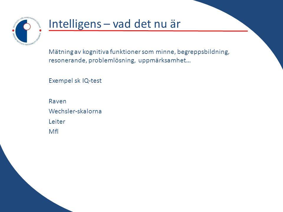 Intelligens – vad det nu är