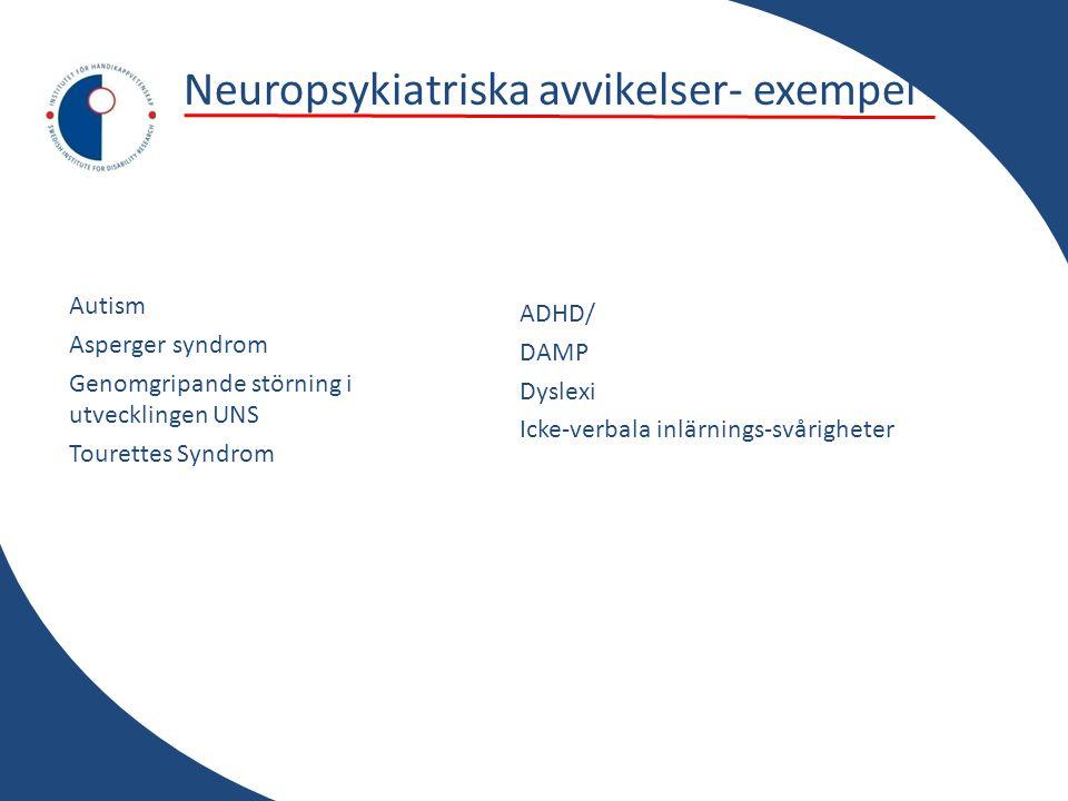 Neuropsykiatriska avvikelser- exempel