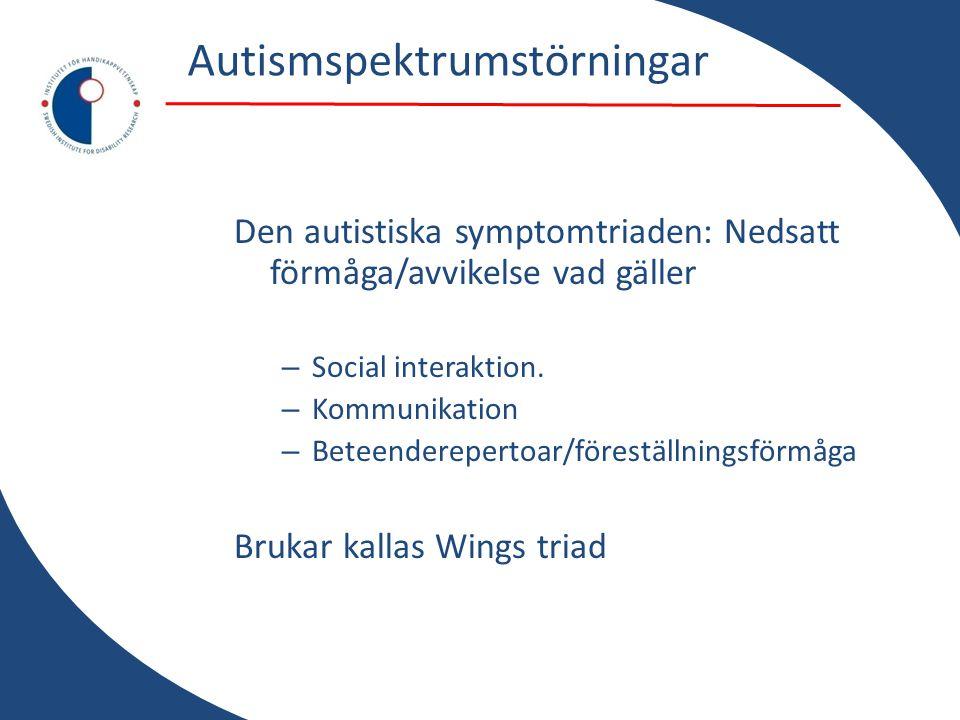 Autismspektrumstörningar