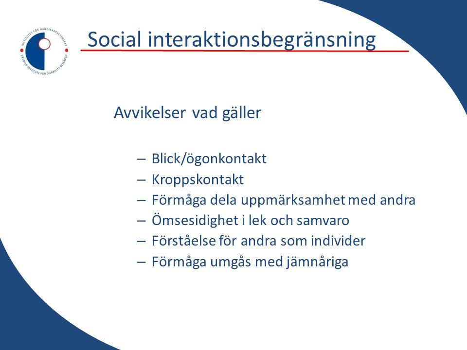 Social interaktionsbegränsning
