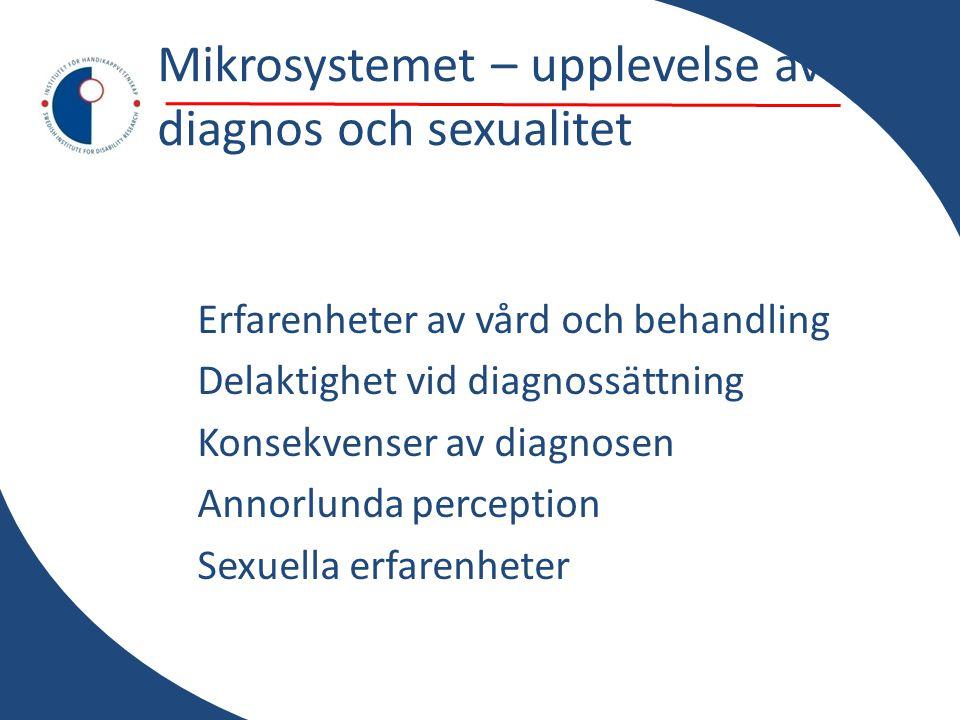 Mikrosystemet – upplevelse av diagnos och sexualitet