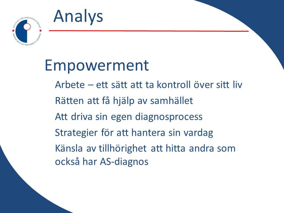 Analys Empowerment Arbete – ett sätt att ta kontroll över sitt liv