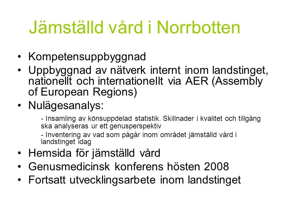 Jämställd vård i Norrbotten