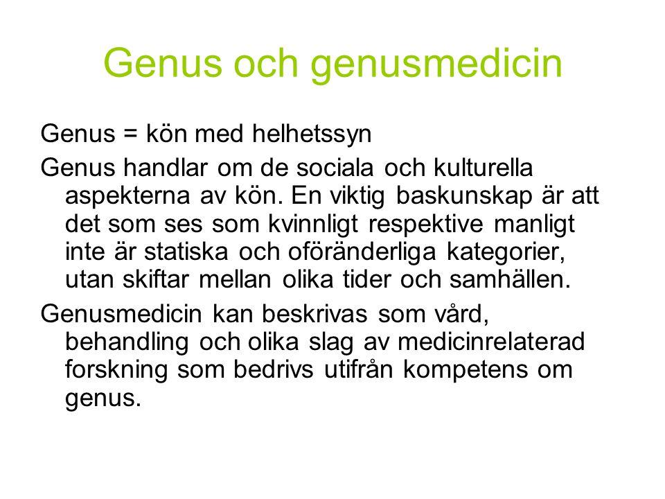 Genus och genusmedicin