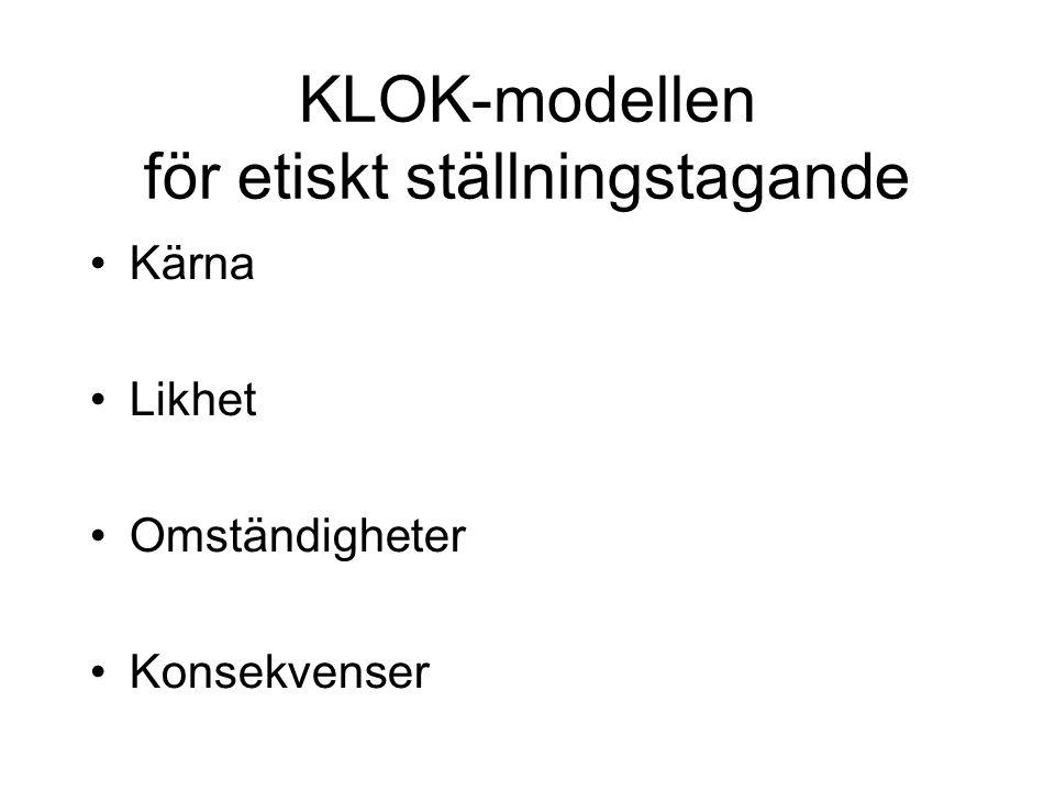 KLOK-modellen för etiskt ställningstagande