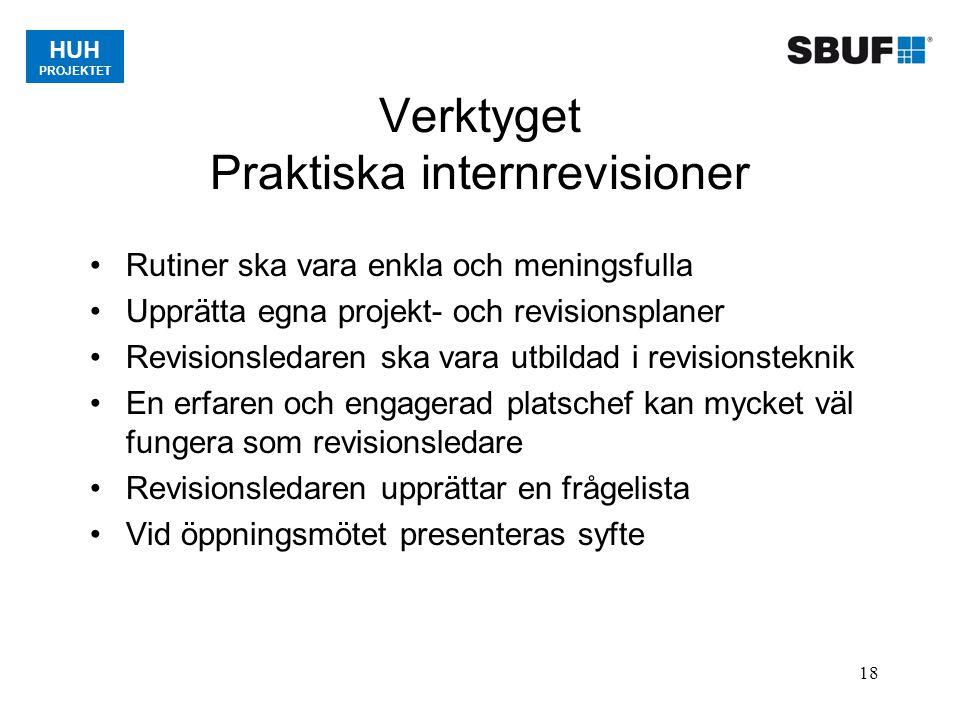 Verktyget Praktiska internrevisioner